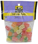 Old Fashioned SOUR GUMMI BEARS 4.5 oz. Hanging Bag