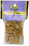 Old Fashioned VANILLA CARAMELS 4 oz. Hanging Bag