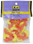 Old Fashioned PEACH RINGS 5.25 oz. Hanging Bag