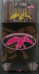 Duck Commander Can coozie, Brown with Pink logo