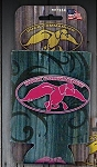 Duck Commander Can coozie, Tribal Barnwood with Pink logo