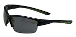 Officially Licensed Duck Commander Black Half FrameA Sunglasses with Green Accents