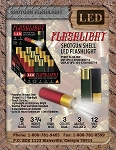 Shotgun Shell 9 LED Flashlight, 3 PACK