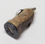 Longleaf camo car charger adapter, single port 1 Amp