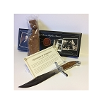 DANIEL BOONE Replica Bowie Knife With Leather Sheath - Certificate of Authenticity