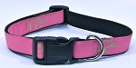 DUCKS UNLIMTED DOG COLLAR PINK