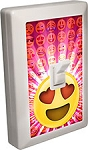 EMOJI LED Night Light Wall Switch Heart Eyes