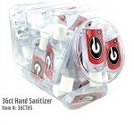 Ga Bulldogs 36ct Hand Sanitizer Display