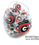 Ga Bulldogs 48ct Nail Clipper Display