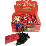 Coal Mine Naughty Nugget Bubble Gum in Miners Sack Display 24CT