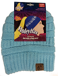 HoleyHat Ponytail Knit Hat with a Hole in it! Baby Blue