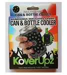 KOVERUPZ  TYVEK INSULATED CAN & BOTTLE COOLER BANDANNA DESIGN