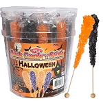 Wholesale Old Fashioned HALLOWEEN Rock Candy Crystals on a Stick 22G 36CT JAR