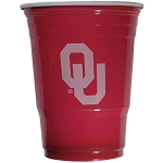 Oklahoma Sooners Plastic Game Day Cups 18CT