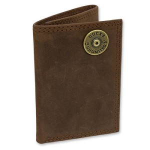 DUCKS UNLIMITED LEATHER TRI-FOLD WALLET
